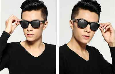 Hot Black Eyesight Improve Anti-fatigue Vision Care Stenopeic Pinhole Glasses PS 7