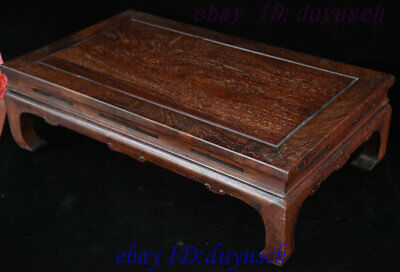 "24"" Old Chinese Huanghuali Wood handcrafted Furniture table Desk Tables Statue 6"