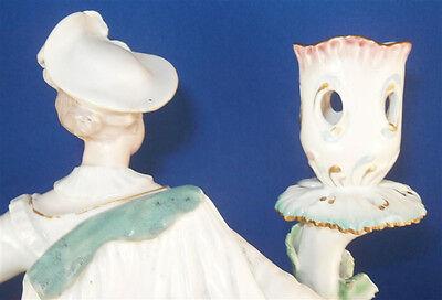 Antique 18thC Derby Porcelain Figural Lady Candlestick Porzellan Kerzenhalter 9