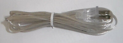 NEW 10 feet Clear Silver 18//2 Plastic Covered LAMP CORD PLUG SET SPT-1 #CS733