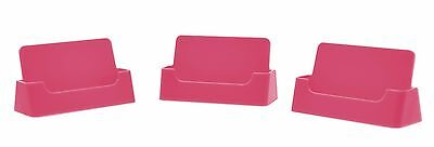 Qty 2 pink plastic business card holder display stand wholesale 2 of 3 qty 2 pink plastic business card holder display stand wholesale stand colourmoves
