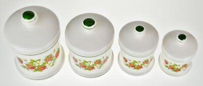 VINTAGE SEARS STRAWBERRY Country Kitchen Canisters - Set of ...