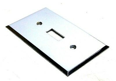 Nos Vintage Single Switch Wall Plate Polished Finish Durachrome Usa! Dm