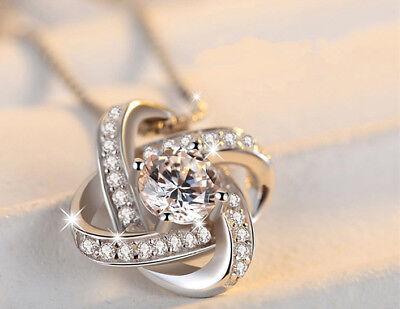 925 Sterling Silver Swirl Pendant Chain Necklace Stud Earrings Womens Jewellery 4