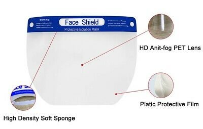 10 PCS Safety Face Shield Anti-Splash Reusable Washable Protection Cover 3