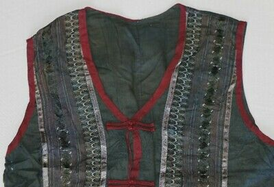 vintage tribal exotic chinese miao people's hand embroidery costume vest 3