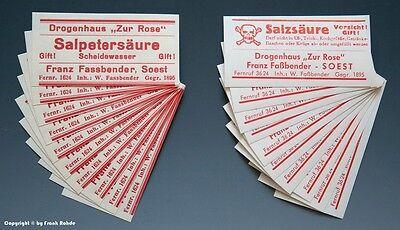 60 x Etiketten für Apotheken Flaschen aus SOEST um 1900-1960 3
