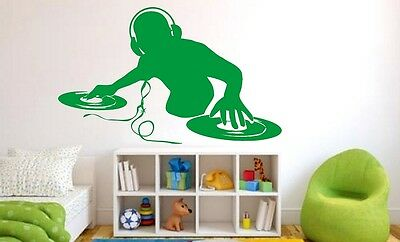 Wandtattoos & Fensterbilder DJ Wall Sticker Music Wall Decal ...