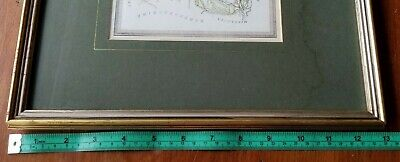 Antique ESSEX England Map Framed c1880 From Harrah's Framed/Glass 7