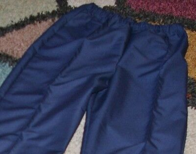 Women Chef Pant Elastic Waist Easy Fit Pull on W// Pocket White Sz Med to 2X Tall