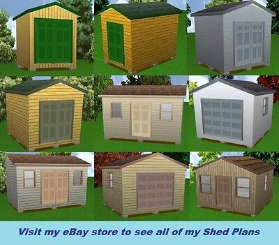 3 Of 4 12x12 Storage Shed Plans Package, Blueprints, Material List U0026  Instructions