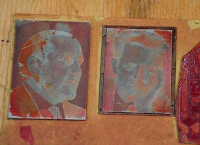 Konvolut Klischees Druckplatte Druckerei Drucker Bleisatz letterpress plates 2