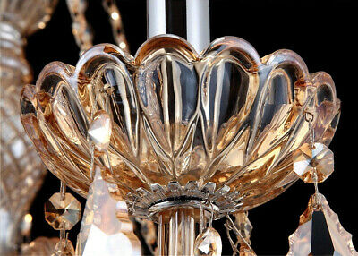 Antique European Italian French CHANDELIER Crystal Silver Champagne 6 Arm Light 4