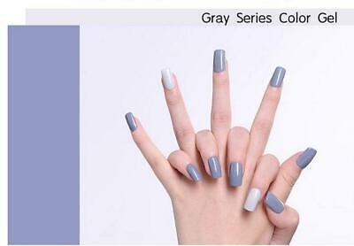 LILYCUTE® Nail Gel Polish UV LED Soak Off Colour Manicure Base No Wipe Top coat 6
