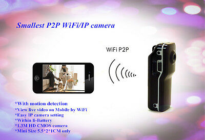 Mini Wearable Police Video Camera WIFI DVR Recorder IR INFRARED SENSITIVE MOD 2