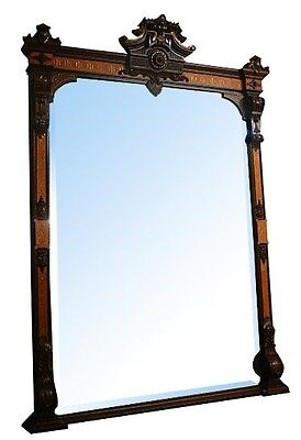 Antique Victorian Mantle and Over Mirror #5709 4