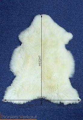 öko XXL  Lammfell echtes Schaffell Naturfell Teppich Deko naturweiß 120-130 cm