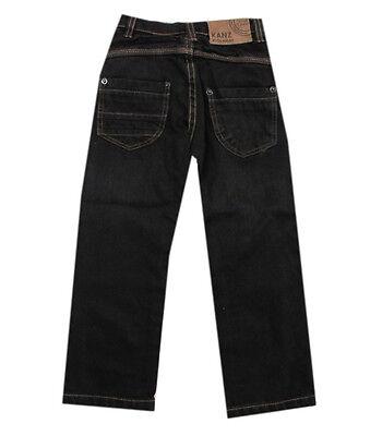 Kanz Hose Jeans lang gerades Bein Antrazit Jungen Kinder Gr.80 86 104 2