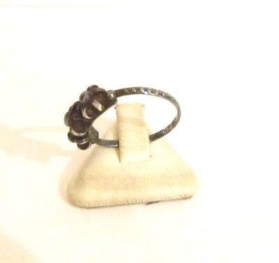 Vintage Excellent Early 20Th Century Silver Ring With Nice Filigree # 773 4