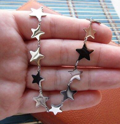 Collana con 12 stelle in acciaio 316L - Oro/Argento Moda Novità 9