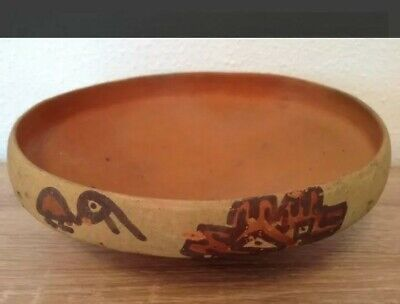 Pre-Columbian pottery bowl with birds - Ica culture Peru - 19 cm 6