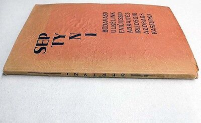 "AVANT-GARDE Cover POETRY Collection ""SEPTYNI"" K. ZUPKA Autograph LITHUANIA 1930 11"