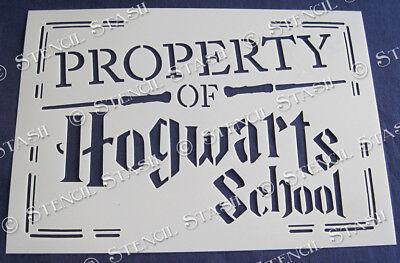 Hogwarts School STENCILS HS 4 sizes Harry Potter Furniture SUPERIOR 250 MYLAR