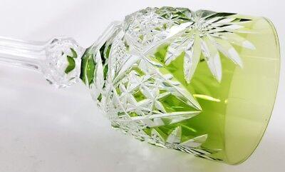 Römer Weinglas eingestochene Luftblase Handschliff Val St Lambert um 1900  AL139 10