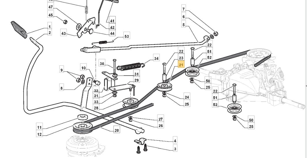 "Atco 38/"" GT38H Ride on Mower Drive Belt 135062003//0"