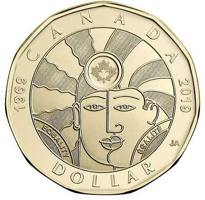 2019 CANADA 🥇 D-Day $2 Dollar Coin - Colored + $1 EQUALITY $1; BU from Roll 🏆 4