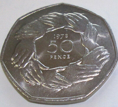 Royal Mint 1973 BUnc Coin FIFTY Pence 50p JOINING EEC END OF AN ERA OUT OF EU 2