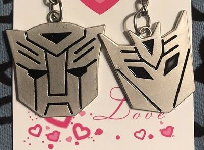 Transformers Autobot Decepticon Symbol Keychain Metal~1 Pair~HIS /& HERS~GIFT NEW
