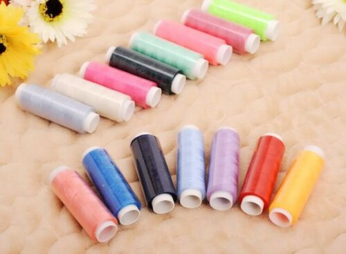 50 Rolls Multi Colors Sewing Thread Polyester Embroidery Spools For Hand Machine