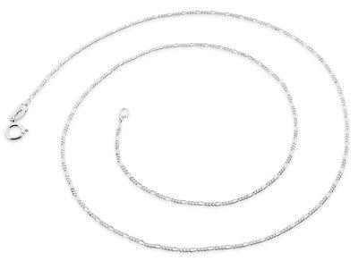 Chaînes de Collier Maille Figaro en Argent Massif Sterling 925 30 40 50 60 70 cm 3