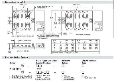 atc 9 fuse box position product wiring diagrams \u2022 fuse dimension chart new bussmann 15600 16 21 16 position atc fuse panel block rv trailer rh picclick com atc ato automotive fuse atc ato automotive fuse
