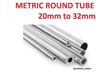ALUMINIUM ROUND TUBE METRIC 6mm 8mm 10mm 12mm 13mm 14mm 15mm 16mm 18mm 19mm 6