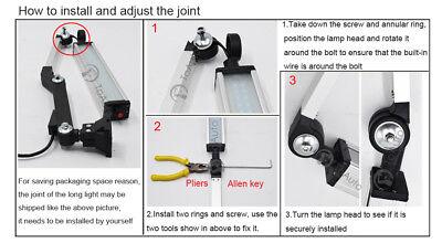 1pc Milling LED Light Swing Arm 24W 12-24V L310mm CNC Machine Bench Lathe Lamp 10