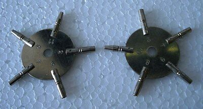 MASTER Key for all POCKET WATCH - Total 10 type of Key HOLE in Two piece
