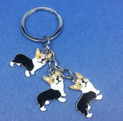 Tan and White Corgi Dog Pup Bag Purse Charm Dangle Zipper Pull Jewelry