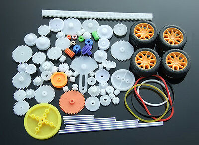 78 kinds gear packages Toy car accessories Motor gear shaft Belt bushings DIY 3