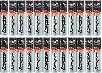 24 Energizer AAA E92 Max Alkaline Batteries Exp. 2029 2