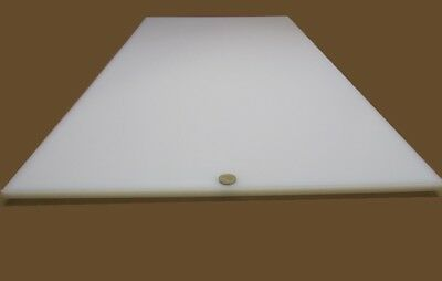 "Thick x 24/"" x 24/"" 1//4/"" UHMW PE White Sheet .250/"" Tivar HOT High Temp"