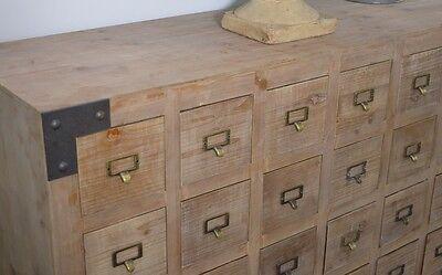 kommode vintage apothekerkommode anrichte sideboard kiefer massivholz natur eur 399 00. Black Bedroom Furniture Sets. Home Design Ideas