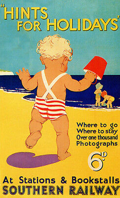 Hints for holidays Old Travel Advertising  Poster reproduction
