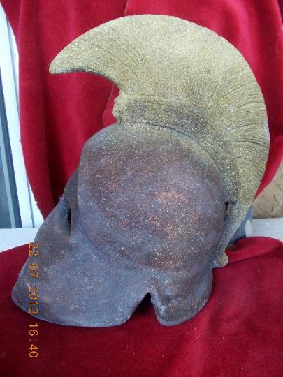 Ancient, Greek helmet Metal A copy 14.2 inch 5