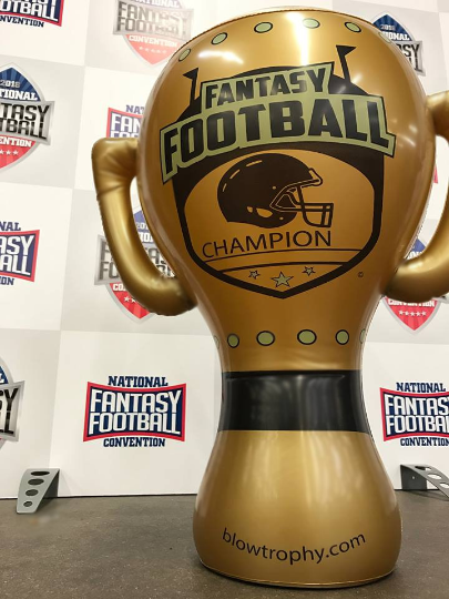 """Fantasy Football Trophy Blow Trophy GIANT Inflatable 24"""" x 20"""" Annual Perpetual 5"""