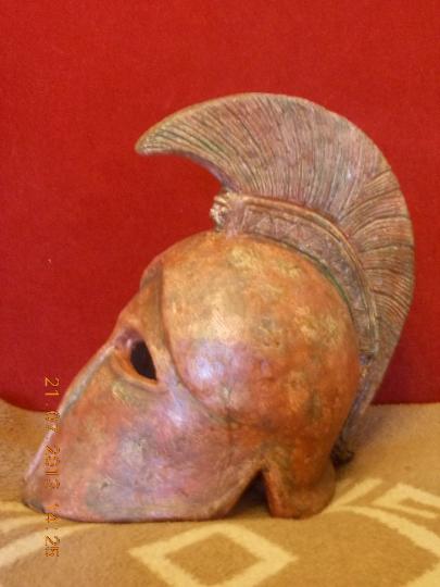 Ancient, Greek helmet Metal A copy 14.2 inch 6