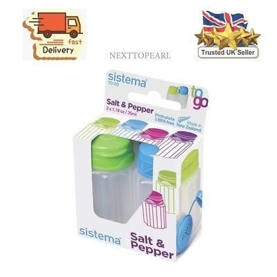 Sistema Salt and Pepper Pots (1.18oz / 35ml) Ideal Travel Lunch Picnic 2