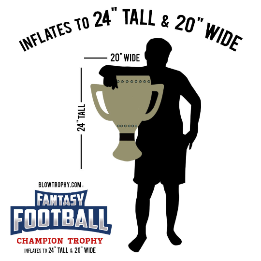 """Fantasy Football Trophy Blow Trophy GIANT Inflatable 24"""" x 20"""" Annual Perpetual 4"""