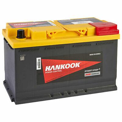Hankook 12V 80Ah AGM Start Stop Batterie de Démarrage Pour Voiture 314x174x190mm 2